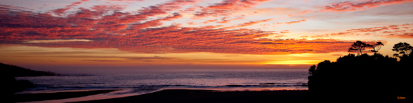 Jim Moorehead: Late Autumn Sunset, Mendocino Bay