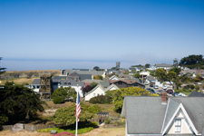Looking across Mendocino from Water Tower