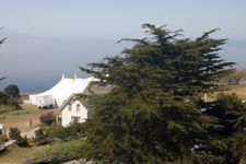 The 16,000 sq ft tent for the Mendocino Music Festival