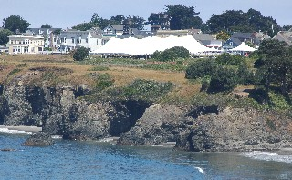 The Music Festival tent on the Mendocino Headlands