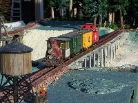 Train Layout at the Botanical Gardens