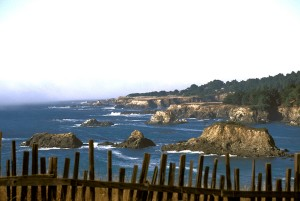 Agate Cove, looking north along the Mendocino coast headlands, Mendocino California