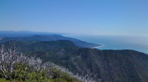 View from top of King Mountain towards Fort Bragg