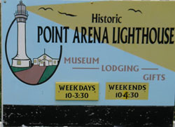 Sign at Point Arena Lighthouse